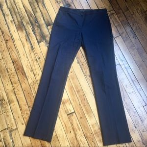 Theory blue pinstripe wool-blend trousers 6